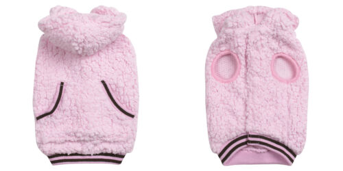 Xx small teacup yorkie poodle pink hooded dog coat sweater clothes