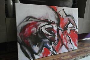 xxl leinwand canvas bild 140x100x5 stierkampf schwarz weiss rot gem lde ikea ebay. Black Bedroom Furniture Sets. Home Design Ideas