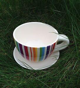 Xxl pflanztasse bunt keramik tasse bepflanzbar f r den for Keramik deko garten