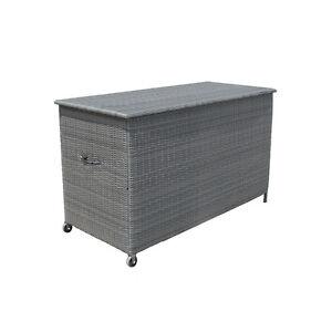 xxl polyrattan auflagenbox gartenbox gartentruhe kissenbox. Black Bedroom Furniture Sets. Home Design Ideas