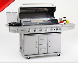 xxl profi edelstahl grillstation gasgrill gas grill partygrill backburner kocher ebay. Black Bedroom Furniture Sets. Home Design Ideas