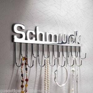 xxl wand schmuckhalter schmuck mit 14 haken f r ketten schl ssel wandhaken ebay. Black Bedroom Furniture Sets. Home Design Ideas