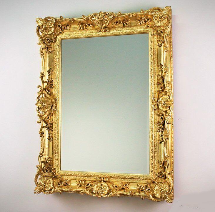 xxl wandspiegel antik barock rokoko 117x87 in gold uvp 699. Black Bedroom Furniture Sets. Home Design Ideas
