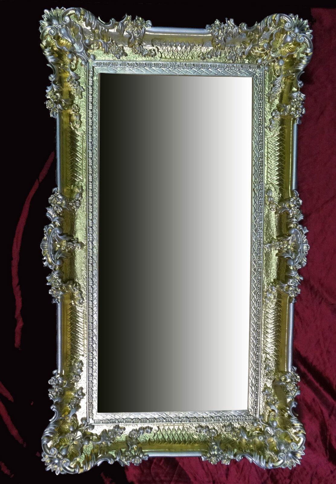 Xxl wandspiegel rechteckig gold silber barock wanddeko - Wanddeko spiegel ...