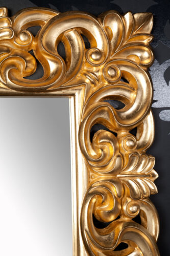 xxl wandspiegel spiegel repro barock antik rechteckig gold replike 180cm x 90cm. Black Bedroom Furniture Sets. Home Design Ideas