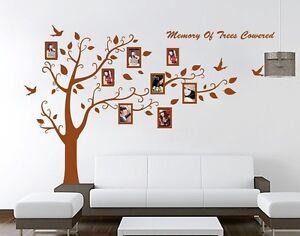 xxl wandtattoo braun baum vogel fotorahmen wandaufkleber. Black Bedroom Furniture Sets. Home Design Ideas