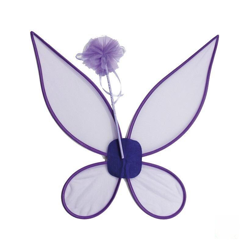 IAL Feen Set lila 2tlg Flügel und Feenstab