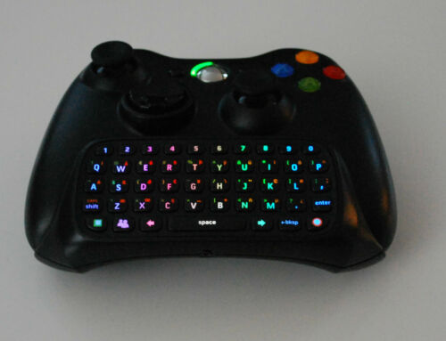 Xbox 360 Custom LED Black Chatpad for Xbox 360 Controller, Multi Color Chat Pad in Consumer Electronics, Gadgets & Other Electronics, Other | eBay
