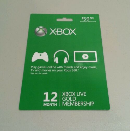 Xbox Live 12 Month Gold Subscription Fast Shipping in Video Games & Consoles, Prepaid Gaming Cards | eBay