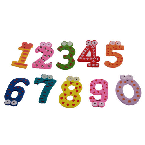 Number Wooden Fridge Magnet Education Learn Cute Kid Baby Toy