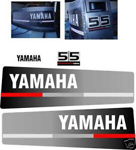 Yamaha 55 Hp Decals Outboard Reproduction Ebay