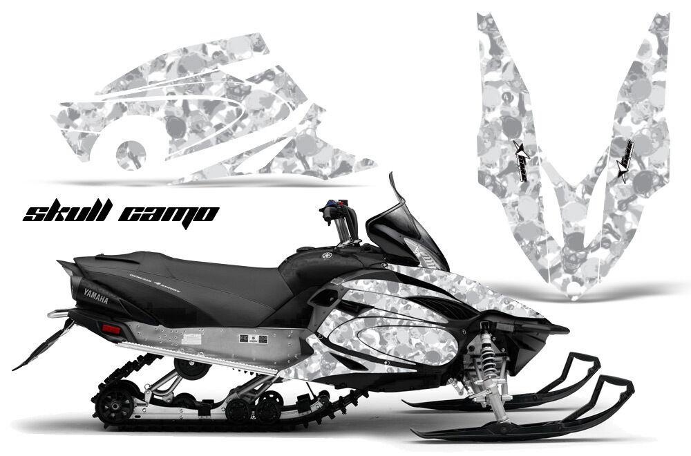 Yamaha Vector Graphic Kit AMR Racing Snowmobile Sled Wrap Decal 12 13 Skull Camo