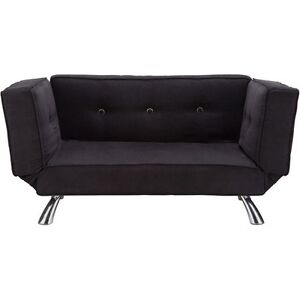 Your Zone Black Futon Chair Convertible Sleeper Bed Couch