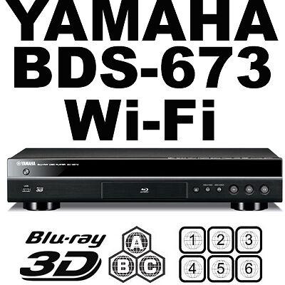Yamaha BDS673 WiFi 2D 3D Multi Zone All Region Code Free Blu Ray
