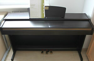 yamaha clavinova clp 115 digitalpiano e piano klavier rosenholz fl gel piano ebay. Black Bedroom Furniture Sets. Home Design Ideas