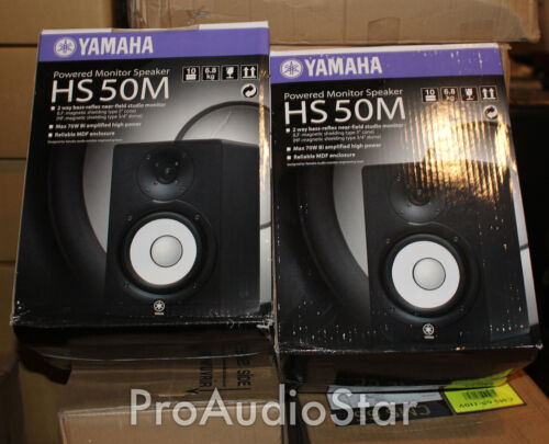 Yamaha HS50M HS 50M studio monitors HS 50 Speaker PAIR PROAUDIOSTAR in Musical Instruments & Gear, Pro Audio Equipment, Speakers & Monitors | eBay