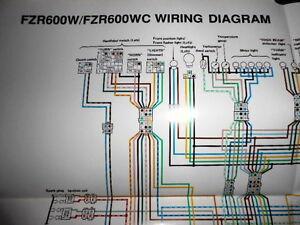 1992 fzr 600 wiring diagram 1996 fzr 600 wiring diagram schematic yamaha factory color wiring diagram schematic 1989 fzr600w ... #3