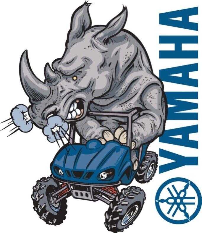 Yamaha Rhino Custom Decal Graphic Sticker Rhino RZR Many Colors hpdec 0011