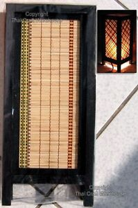 Yellow-Bamboo-Strip-Large-Square-Thai-Wood-Craft-Lamp