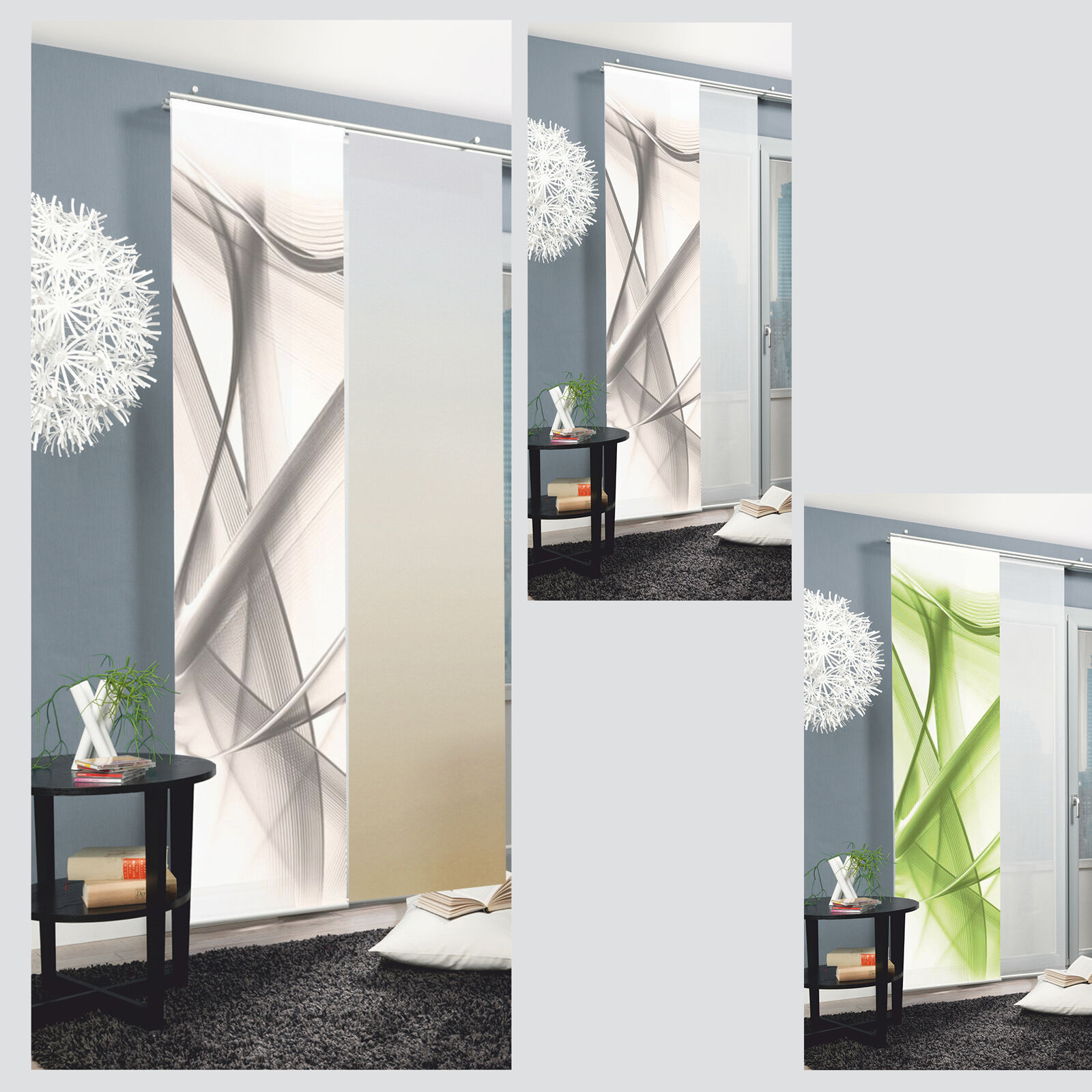 aaa yukon schiebevorhang schiebegardine raumteiler digital home wohnideen ebay. Black Bedroom Furniture Sets. Home Design Ideas