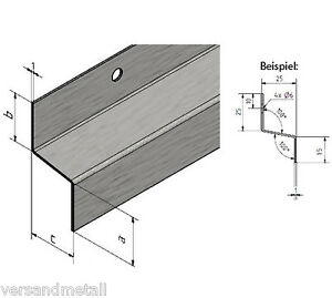 z profil traufblech aus edelstahl v2a mit eins lochung durchmesser 6 mm ebay. Black Bedroom Furniture Sets. Home Design Ideas
