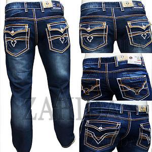 zahida herren jeans hose used denim look cargo dicke naht. Black Bedroom Furniture Sets. Home Design Ideas