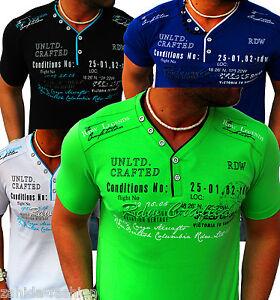 ZAHIDA-Herren-T-Shirts-Shirt-Clubwear-V-Neck-Designer-Polo-Top-T-Shirt-Wow-NEU