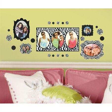 ZEBRA PRINT PHOTO FRAMES 52 BiG Wall Decals POLKA DOT Room Decor BLACK Stickers in Home & Garden, Home Decor, Decals, Stickers & Vinyl Art | eBay