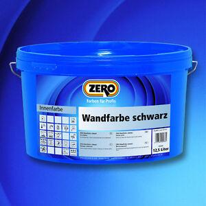 Zero wandfarbe schwarz 12 5 liter matt und schwarz - Wandfarbe schwarz matt ...