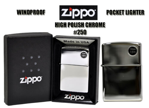 ZIPPO ORIGINAL MIRROR PERFECTION_HIGH POLISH CHROME LIGHTER #250 - MADE IN USA in Collectibles, Tobacciana, Lighters | eBay