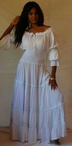 White Peasant Dress on Zr981 White Dress Peasant Ruffled Smocked Lace Sexy Plus Size 4x 5x 6x