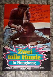 ZWEI-TOLLE-HUNDE-IN-HONGKONG-A1-FILMPOSTER-German-1-Sheet-1974