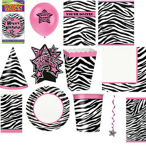Zebra Birthday Party Supplies Tableware and Decorations All items here ...