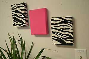 Zebra Fabric Wall Hangings Red Turquoise Hot Pink Purple