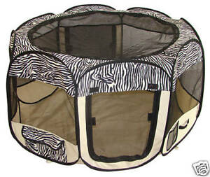Zebra Pet Dog Cat Tent Puppy Play Exercise Pen Crate S in Pet Supplies, Dog Supplies, Crates | eBay