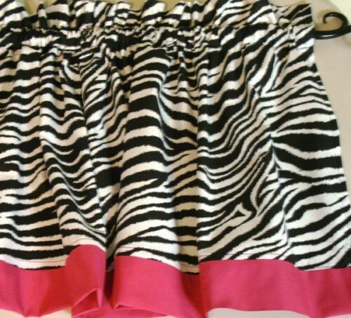 Zebra Print with Hot Pink Border Valance Curtain Window Treatment Kids in Home & Garden, Window Treatments & Hardware, Curtains, Drapes & Valances | eBay