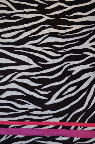 Zebra Strip Beach Towel with Pink Edging, 30x60, Perfect for a beach day in Home & Garden, Bath, Towels & Washcloths | eBay