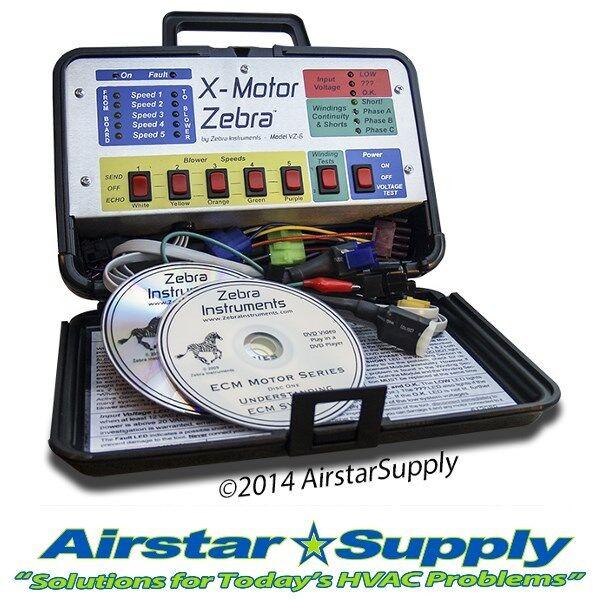 Variable speed zebra tool for ecm system diagnostics and for Ecm motors for hvac