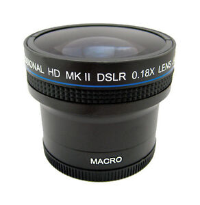 Zeikos .18x Super Wide Fisheye Lens For ...