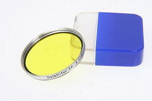 Zeiss-Opton-Gelbfilter-2x-Einschraubfilter-fuer-Objektive-mit-40-5mm