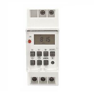 Zeitschaltuhr-Schalttafel-Einbau-230V-16A-Hutschiene-TS-GE2-3500W-digitale