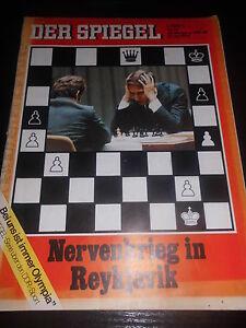 zeitschrift der spiegel nervenkrieg in reykjavik 26 jahrgang 31 juli 1972 ebay. Black Bedroom Furniture Sets. Home Design Ideas