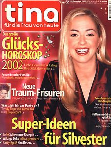 zeitschrift tina nr 52 von 2001 super ideen f r silvester traum frisuren uvm ebay. Black Bedroom Furniture Sets. Home Design Ideas