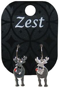 Zest-Christmas-Rudolph-with-Wobbly-Head-Dangly-Earrings-for-Pierced-Ears