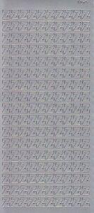 Zier-Sticker-Bogen-Buchstaben-nur-Z-silber-5626s
