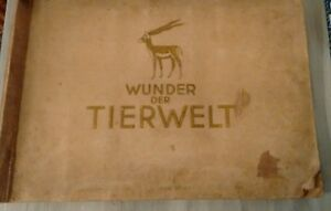 Zigarettenbilder-Sammelbilderalbum-von-1933-Thema-Wunder-der-Tiere-Saeugetiere
