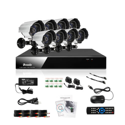 Zmodo 8 CH Channel DVR 8 Outdoor CCTV Home Security Camera System NO Hard Drive in Consumer Electronics, Home Surveillance, Surveillance Security Systems | eBay