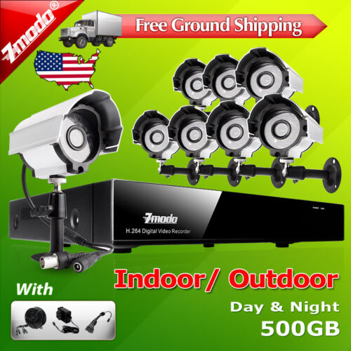 Zmodo 8 CH Channel DVR 8 Outdoor CCTV Security Camera System 500GB Hard Drives in Consumer Electronics, Home Surveillance, Surveillance Security Systems | eBay