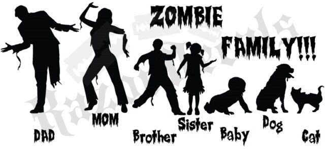 Zombie Decal Stick Figure family car graphic custom funny
