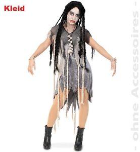 zombie kleid frauen frau gruselkost m kost m halloween fasching karneval 1295 ebay. Black Bedroom Furniture Sets. Home Design Ideas